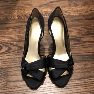Nine west Black silk dress shoe